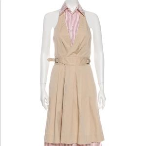 Dsquared2 halter neck mid length stripe dress US8